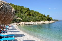 Leftis Gialos beach in Alonissos island. Greece royalty free stock images