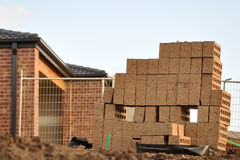 Leftover brick at construction Royalty Free Stock Image