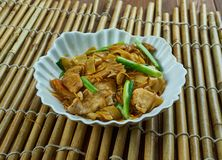 Leftover Chicken Stir Fry. Filipino Stir Fry Noodles with Chicken Royalty Free Stock Images