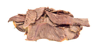 Leftover chuck roast sliced thin Royalty Free Stock Image