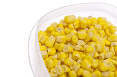 Leftover Corn Border Royalty Free Stock Photography