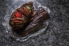 Leftover fruitcake stock photography