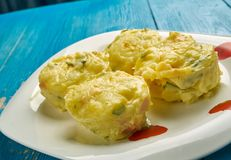 Leftover Mashed Potato Puffs. Close up Royalty Free Stock Images