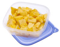Leftover Pineapples Stock Photography