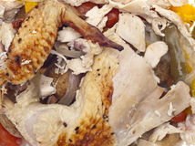 Leftover Roasted Chicken Royalty Free Stock Photography