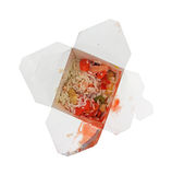 Leftover sweet sour chicken in box Stock Images