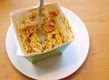 Leftover Thai noodles Royalty Free Stock Photo