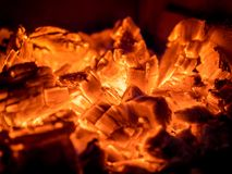 Leftovers of Campfire  Embers Stock Photography