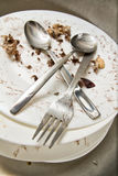 Leftovers and  dirty dishes Royalty Free Stock Photos