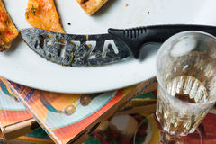Leftovers pizza Royalty Free Stock Photography