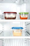 Leftovers in refrigerator Stock Photos