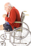 Leg amputation elderly senior vertical Stock Image