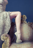 Leg on the  armchair Royalty Free Stock Photography