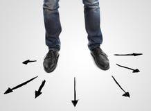 Leg and arrows Stock Photos