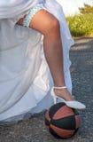 Leg and ball Stock Image