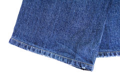 Leg of blue jean Royalty Free Stock Photography