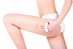 Leg cosmetic Stock Photography