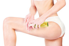 Leg cosmetic Royalty Free Stock Photos