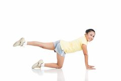 Leg exercise Stock Images