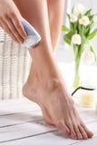 Leg hair removal Royalty Free Stock Photos