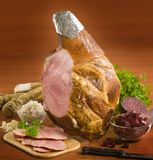 Leg of ham. And vegetable stock photography
