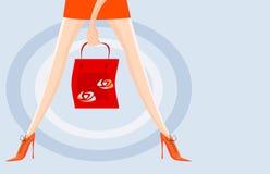 Leg and handbag Stock Photos