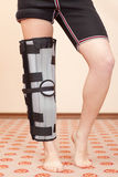 Leg injury Stock Images