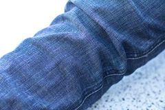 Leg Jeans denim texture. A leg Jeans denim texture for background Stock Photography