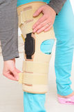 Leg in knee cages Stock Photos