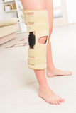 Leg in knee cages Royalty Free Stock Photo