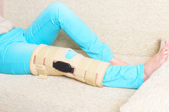 Leg in knee cages Royalty Free Stock Images