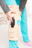 Leg in knee cages Royalty Free Stock Photography