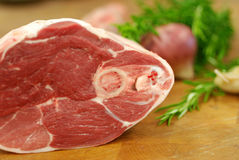Leg of Lamb Stock Photo