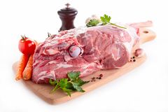 Leg of lamb on board Stock Image