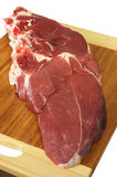 Leg lamb chops. Ready for cooking royalty free stock photography