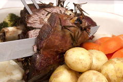 Leg of lamb Royalty Free Stock Photo