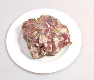 Leg of lamb  on a plate Royalty Free Stock Image