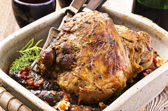 Leg of Lamb Roast Royalty Free Stock Image