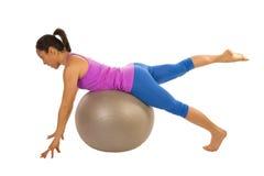 Leg lift ball Royalty Free Stock Images