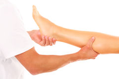 Leg massage Stock Photos