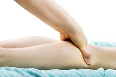 Leg Massage Detail Royalty Free Stock Photography