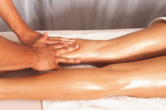 Leg massage Royalty Free Stock Images