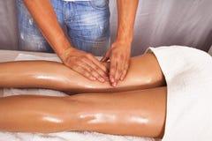 Leg massage Royalty Free Stock Images