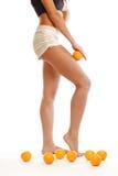 Leg oranges Stock Images