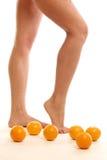 Leg oranges Royalty Free Stock Photos