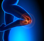 Knee Pain Superior View. Leg pain - Knee Pain Superior View Stock Photography