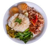 leg pork rice stewed 免版税图库摄影