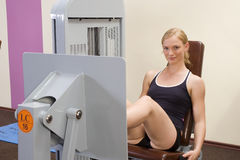 The leg press Royalty Free Stock Images