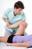 Leg rehabilitation exercise Stock Photography