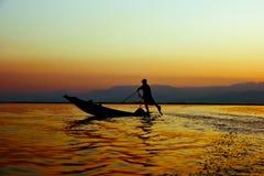 Leg Rowing Stock Photo